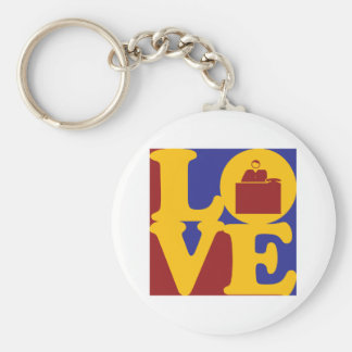 Admissions Love Basic Round Button Keychain