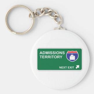Admissions Next Exit Basic Round Button Keychain