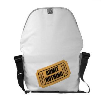 Admit Nothing Ticket Messenger Bag