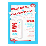 Admit One Carnival Birthday Party Invitation