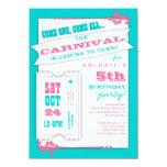 Admit One Carnival Girl Birthday Party Invitation