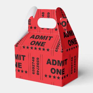 """Admit One"" Gable Favor Box"