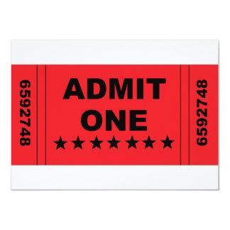 """Admit One"" Invitation"