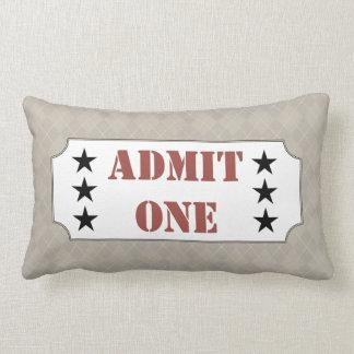 Admit One Movie Ticket Cinema Pillow