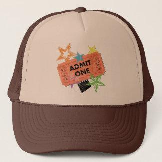 ADMIT ONE MOVIE TICKET TRUCKER HAT