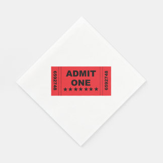 """Admit One"" Paper Napkins"