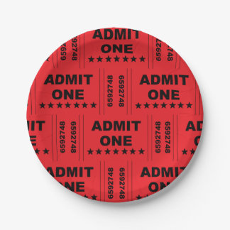 """""""Admit One"""" Paper Plates"""