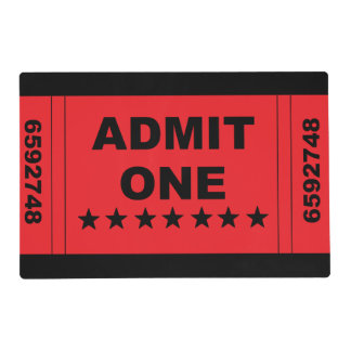 """Admit One"" Placemat"