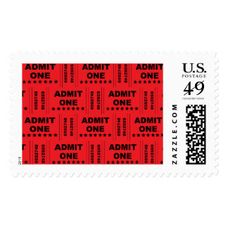 """""""Admit One"""" Postage Stamps"""