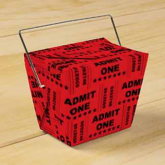 """""""Admit One"""" Take-out Favor Box"""
