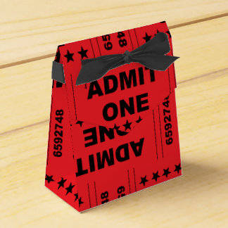 """""""Admit One"""" Tent Favor Box"""