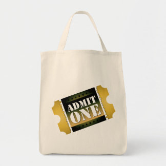 Admit one tote bag