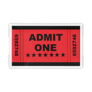 """Admit One"" Tray"