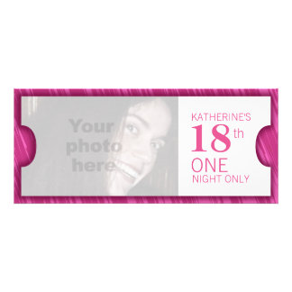 Admit one VIP 18th birthday party invite