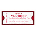 Admit two VIP 40th birthday party photo invite