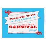 Admita que un cumpleaños del carnaval le agradece