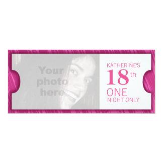 Admita que una décimo octava fiesta de cumpleaños invitación 10,1 x 23,5 cm