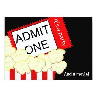 Admita una invitación de la película y de la