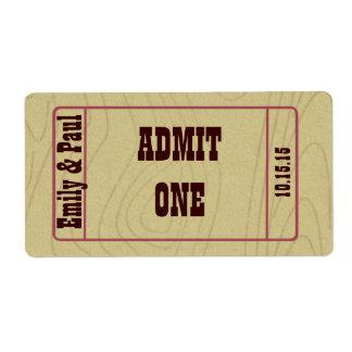 Admita una reserva la fecha etiquetas de envío