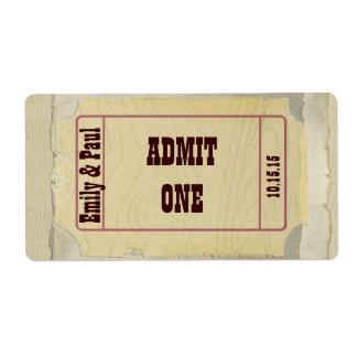 Admita una reserva la fecha etiqueta de envío
