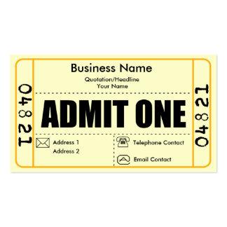 Admita una tarjeta de visita