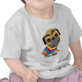 Admits like a multicolored dog t-shirts