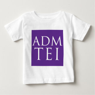 ADMTEI abbreviated logo - purple square Baby T-Shirt