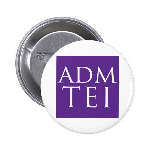 ADMTEI abbreviated logo - purple square Pin