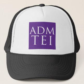 ADMTEI abbreviated logo - purple square Trucker Hat