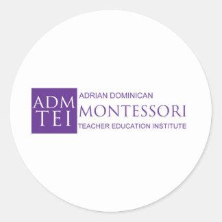 ADMTEI-logo-full Classic Round Sticker