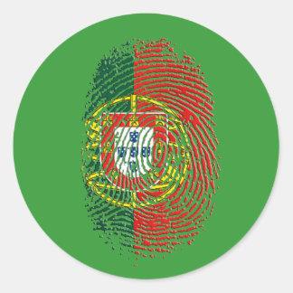 ADN Português (DNA) - Tugas Camisas e Presentes Pegatina Redonda