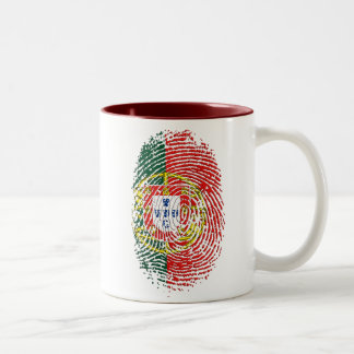 ADN Português (DNA) - Tugas Camisas e Presentes Two-Tone Coffee Mug