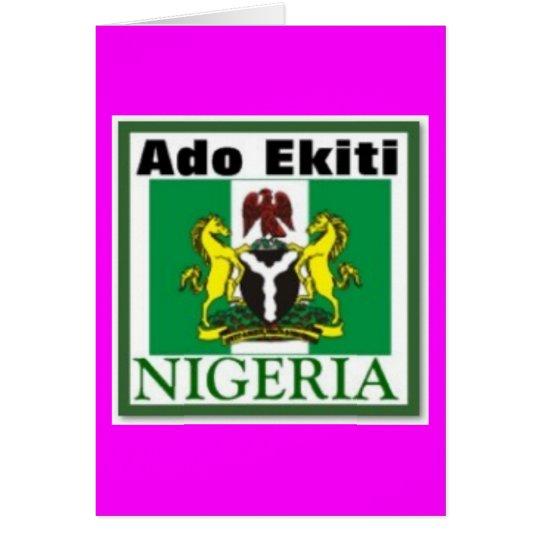 ADO EKITI, NIGERIA(T-Shirt And etc) Card