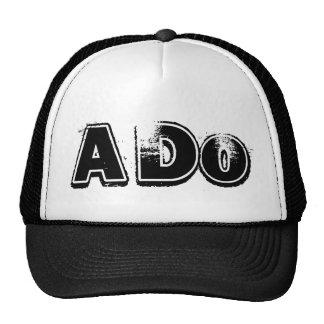 ADo Hat White and Black