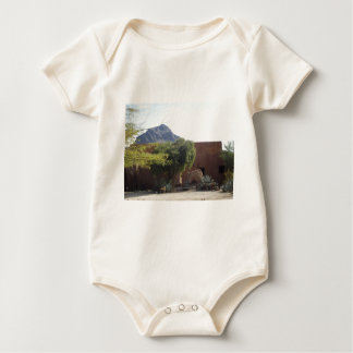 Adobe Building with Trees Baby Bodysuit