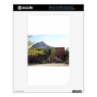 Adobe Building with Trees NOOK Color Skin
