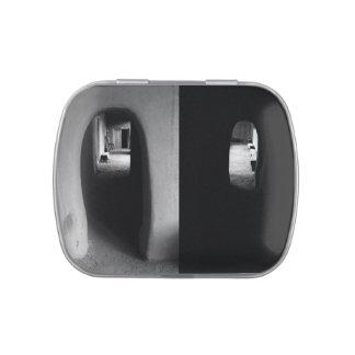 Adobe Corridor: Black and White Photos Small Tin Candy Tin