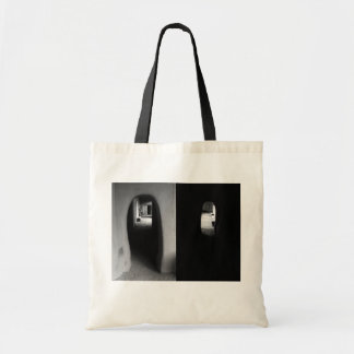Adobe Corridor: Black and White photos tote bag