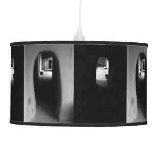 Adobe Corridor: Black & White photos Hanging Lamp
