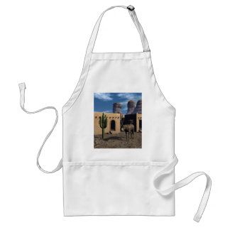 Adobe Dwellings and Burro Adult Apron