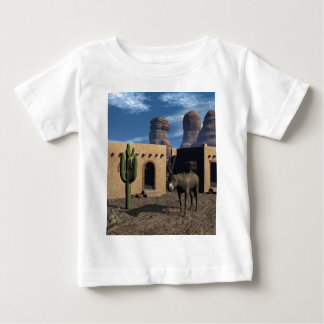 Adobe Dwellings and Burro Baby T-Shirt
