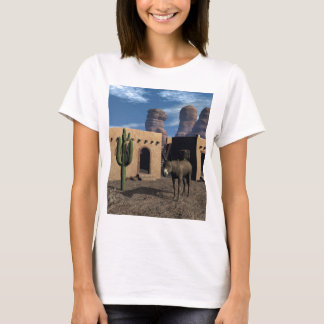 Adobe Dwellings and Burro T-Shirt