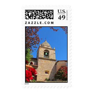 Adobe Mission church bell tower Postage Stamps