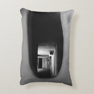 Adobe Passageway: Black & White photo Accent Pillow