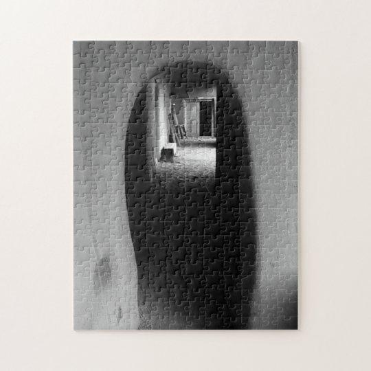 Adobe Passageway: Black & White photo Jigsaw Puzzle