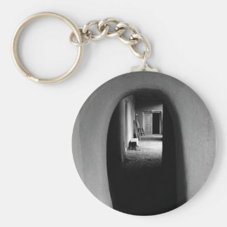 Adobe Passageway: Black & White photo Keychain