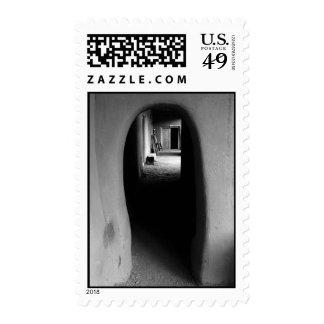Adobe Passageway: Black & White photo – Medium Postage