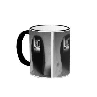 Adobe Passageway: Black & White Photo Mug