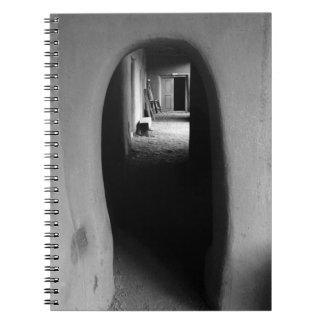 Adobe Passageway: Black & White photo Spiral Note Books