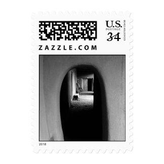 Adobe Passageway: Black & White photo – Small Postage